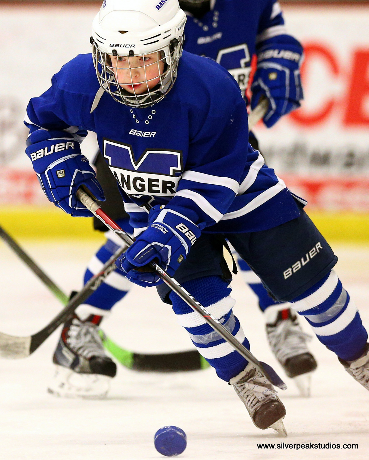 SilverPeak Studios Action Sports Hockey Mite Methuen Rangers Puck Photography