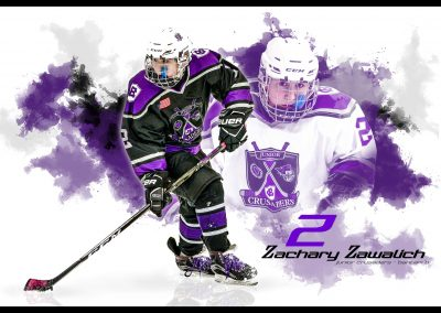 SilverPeak-Studios-Hockey-Poster-Painting-Artwork-Sportrait-For-Your-Player-Jr-Crusaders-Player