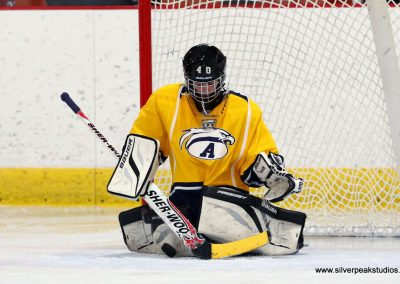 SilverPeak Studios Turkey Day Classic Hockey Tournament Andover Goalie
