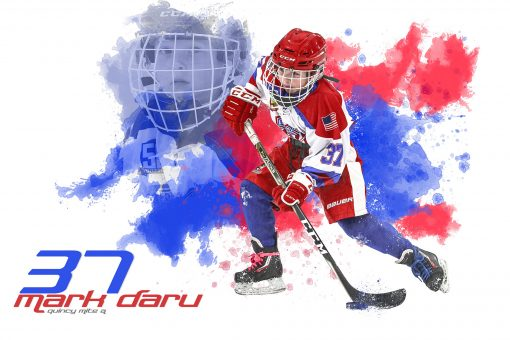 SilverPeak Studios Sportrait Customized Portrait Painting Hockey Digital Creation