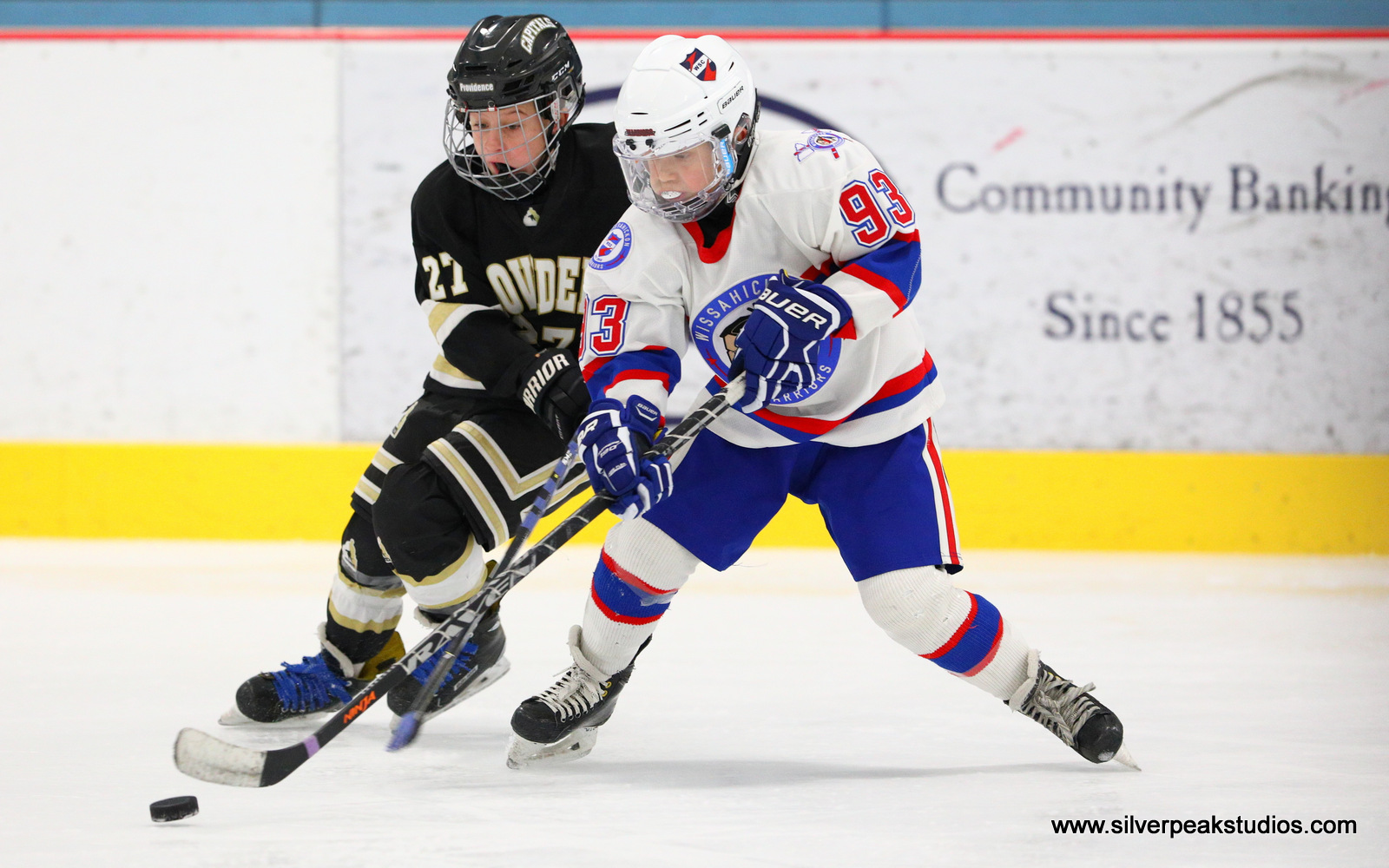 SilverPeak Studios Action Sports Hockey Squirt A Providence Wissahickon Puck Photography