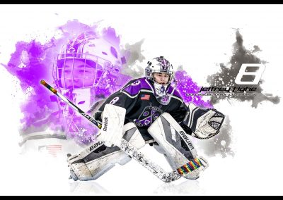 SilverPeak Studios Sportrait Paint-Spatter-Concept Painting Hockey Action Photography