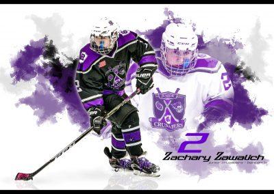 SilverPeak-Studios-Hockey-Poster-Painting-Artwork-Sportrait-For-Your-Player-Jr-Crusaders-Player
