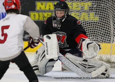 SilverPeak Studios Warrior Cup 2018 Game Highlight Photo Action Shots Hockey WAR_0718 Westfield Jr Bombers vs Dedham Squirt A