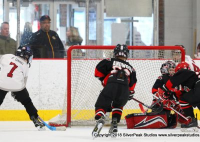 SilverPeak Studios Warrior Cup 2018 Game Highlight Photo Action Shots Hockey WAR_0774 Westfield Jr Bombers vs Dedham Squirt A