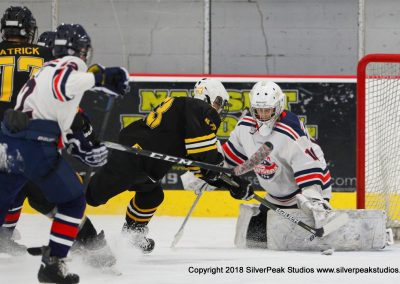SilverPeak Studios Warrior Cup 2018 Game Highlight Photo Action Shots Hockey WAR_9461 Brewins vs Boston Jr Rangers Bantam A